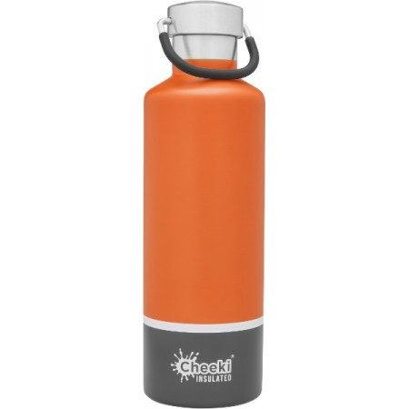 Cheeki 600ml Stainless Steel Insulated Bottle - Orange Grey