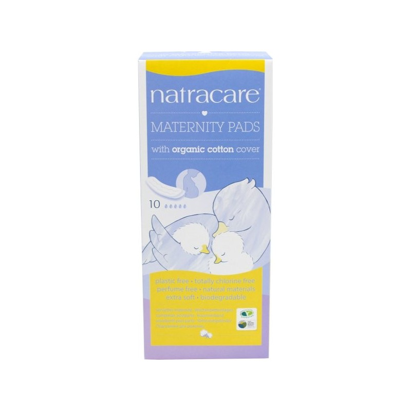 Natracare Organic Maternity Pads 10 Pads Pack of 6