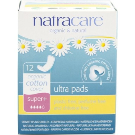 Natracare Organic Cotton Ultra Pads 12pk - Super+