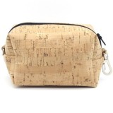 Cork Fabric Makeup Multi-purpose Bag - Medium