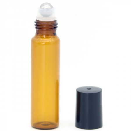 Amber Glass Roll On Reusable Bottle 15ml