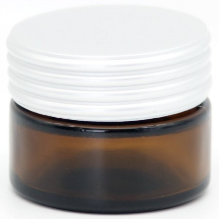 Glass Reusable Jar with Lid 15ml - Amber