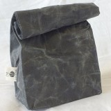 Sustomi Waxed Lunch Bag - Charcoal