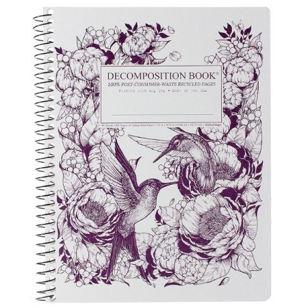Decomposition Spiral Notebook - Hummingbirds
