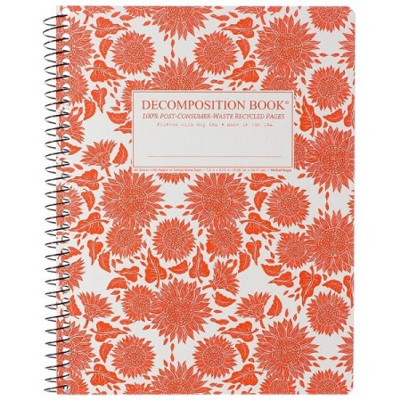 Decomposition Spiral Notebook - Sunflowers