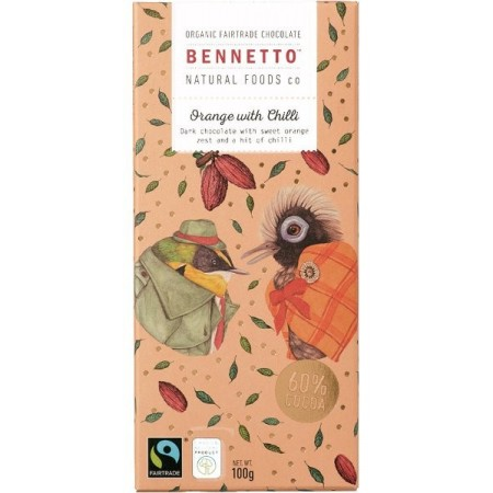 Bennetto Organic Chocolate 100g - Orange & Chilli