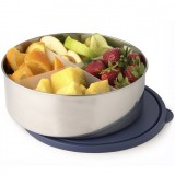 U Konserve Divided Big Bowl 100oz 3L Navy Lid