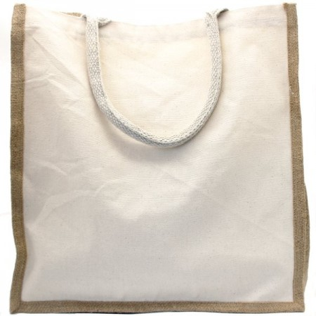 Green Essentials Organic Cotton Canvas & Jute Shopping Bag