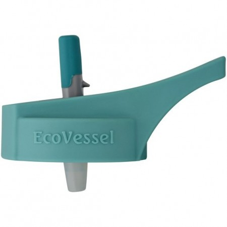 EcoVessel Replacement Adult Flip Straw Lid - Teal