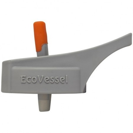 Ecovessel Replacement Adult Flip Straw Lid Grey Biome