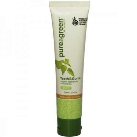 Pure & Green Organics Teeth & Gums Toothpaste Concentrate - Mint