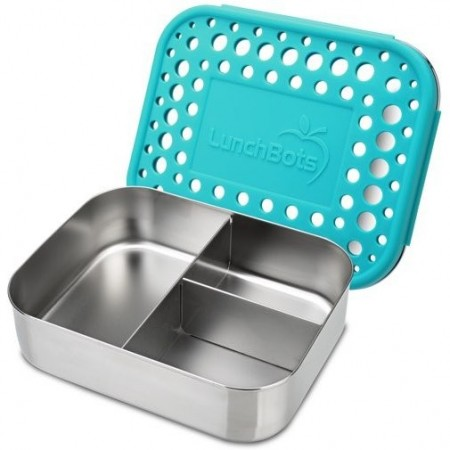 Lunchbots Medium Stainless Steel Lunchbox Trio 2 (New Style) - Aqua Dots