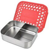 Lunchbots Medium Stainless Steel Lunchbox Trio 2 (New Style) - Red Dots