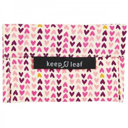 Keep Leaf Medium Baggie - Hearts
