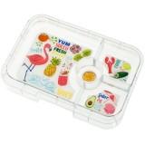 YumBox Tapas Interchangeable Tray 4 Section - Flamingo