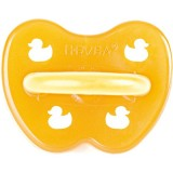 Hevea Natural Rubber Soother - Symmetrical 0-3m Duck