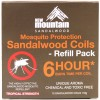 New Mountain 6hr Sandalwood Mosquito Coil Refills (10pk)