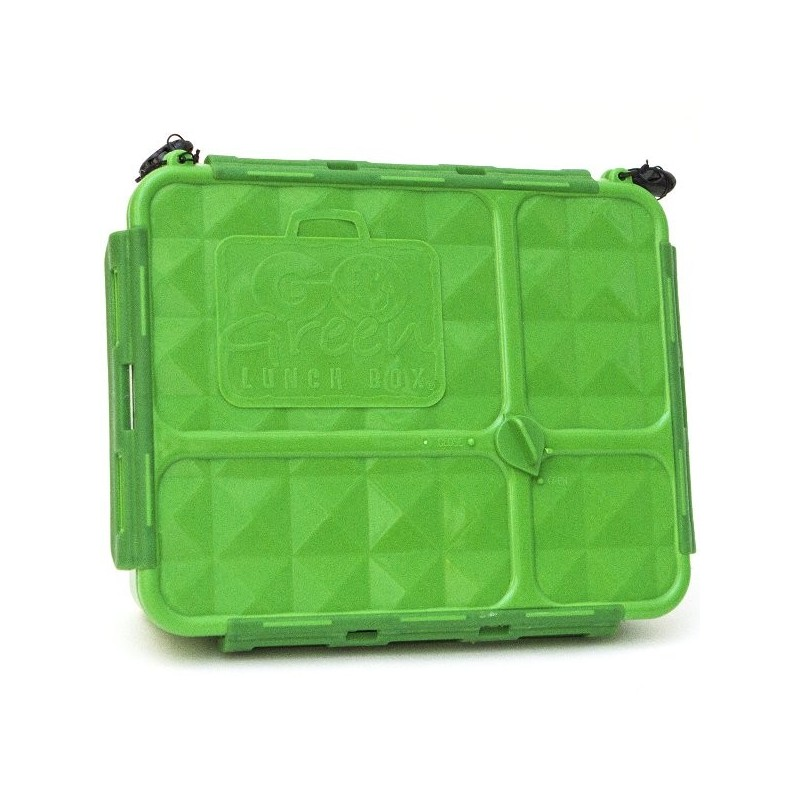 Go Green Lunch Box Medium 4 Compartment - Green