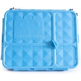 Go Green Lunch Box Medium 4 Compartment - Blue