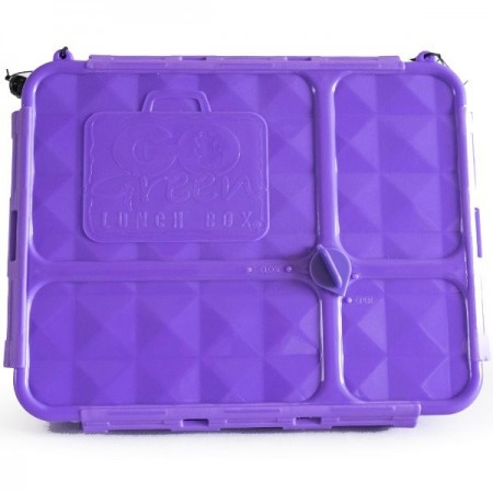 Go Green Lunch Box Medium 4 Compartment - Purple