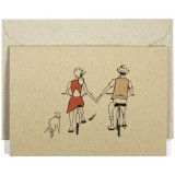 Deer Daisy Card - Bike Riding
