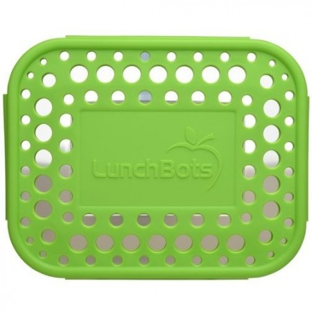 LunchBots Spare Medium Cover - Dots Green