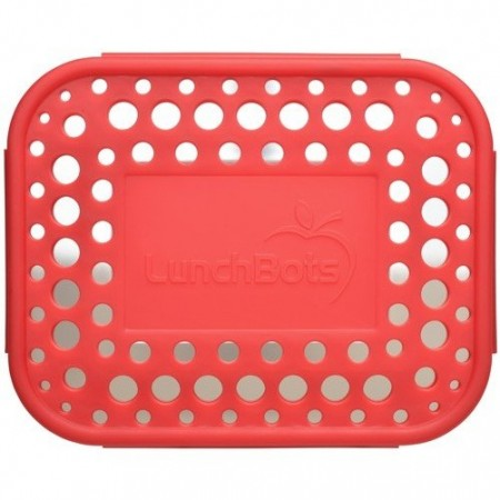 LunchBots Spare Medium Cover - Dots Red