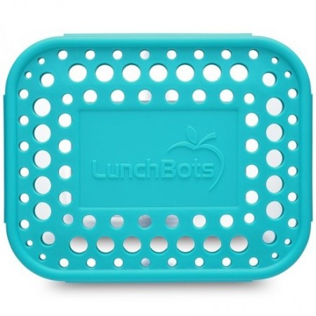 LunchBots Spare Medium Cover - Dots Aqua
