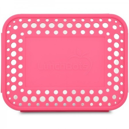 Lunchbots Spare Large Cover - Dots Pink