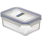 Glasslock Container Rectangle 710ml - Blue Seal
