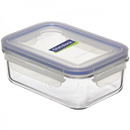 Glasslock Container Rectangle 715ml - Blue Seal
