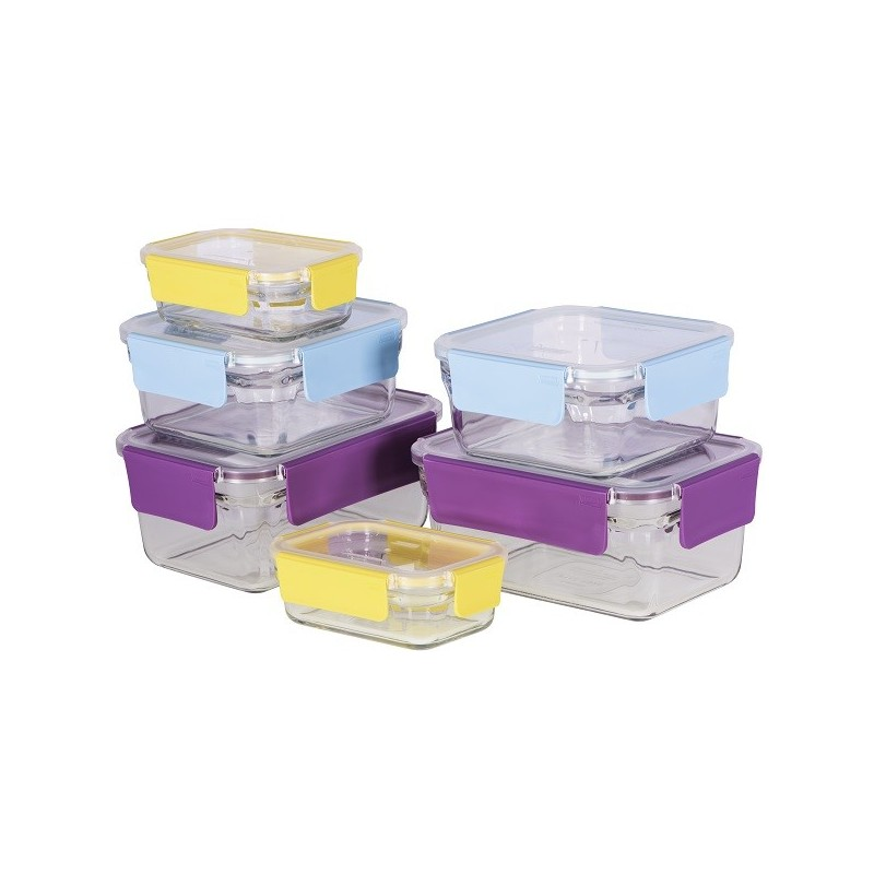 Glasslock Food Storage Container Sets Extraordinary Glasslock Oven Safe Premium Container Set 60 Piece Coloured Snap Lids