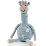 Pebble Crochet Giraffe Large - Duck Egg Blue