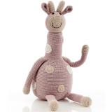 Pebble Crochet Giraffe Large - Dusky Pink