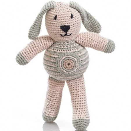 Pebble Crochet Bunny With Spot - Teal