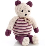 Pebble Crochet Bear - Soft Purple