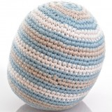 Pebble Crochet Ball Rattle - Duck Egg Blue