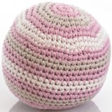 Pebble Crochet Ball Rattle - Dusky Pink