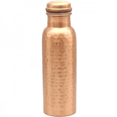 Yogibeings Copper Water Bottle 845ml - Hammered Matte