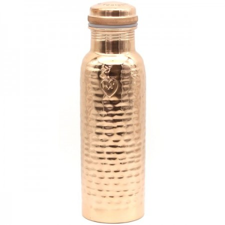 Yogibeings Copper Water Bottle 845ml - Hammered Polish