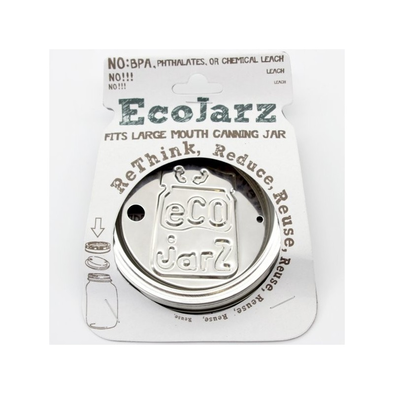 EcoJarz Stainless Steel Drinking Lid - Wide Mouth