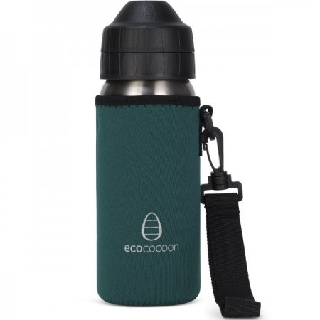 EcoCocoon Bottle Cover 500ml - Emerald Green
