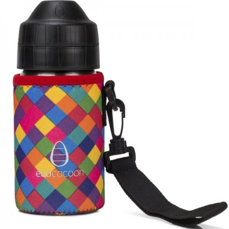 Ecococoon Small Water Bottle Cuddler - kaleidoscope
