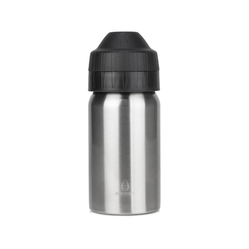 Ecococoon 350ml Brushed Silver Stainless Steel Water Bottle