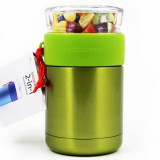 Goodbyn 2-in-1 Insulated Food Jar 700ml Glass & S Steel - Green