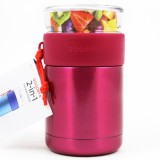 Goodbyn 2-in-1 Insulated Food Jar 700ml Glass & S Steel - Pink