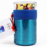 Goodbyn 2-in-1 Insulated Food Jar 700ml Glass & S Steel - Blue
