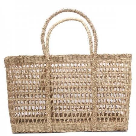 Rectangle Seagrass Net Bag - Medium