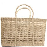 Rectangle Seagrass Net Bag - Large