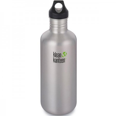 Klean Kanteen Classic Stainless Steel Water Bottle 1182ml (40oz) - Loop Cap